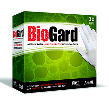 BioGard Antimicrobial Nitrile Gloves