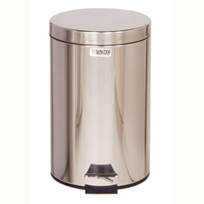 Cleanroom Medi-Can Stainless Steel 3.5 Gallon Waste Receptacle
