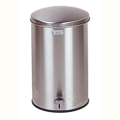 Cleanroom Defender Step Can Stainless Steel Round 3.5 Gallon Waste Receptacle